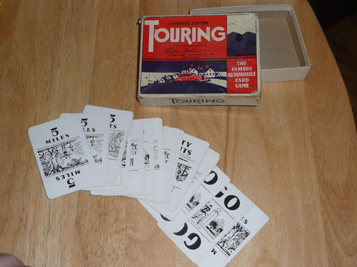 Parker Brothers TOURING Automobile Card Game 1937/47 23 Cards Antique