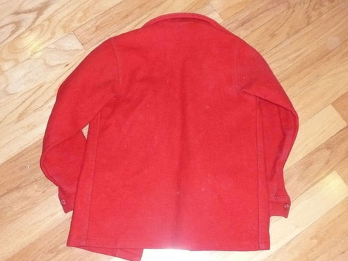 """Official Boy Scouts of America Red Wool Jacket - 25""""L x 14""""W"""