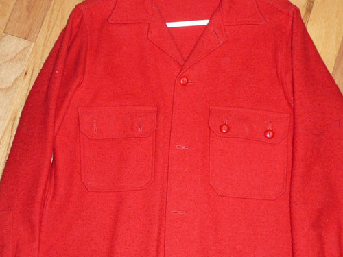 """Official Boy Scouts of America Red Wool Jacket  - 28""""L x 17.5""""W, Size 38"""