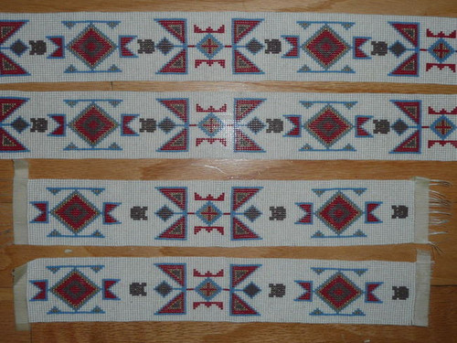 """4 Sections of Beading for Order of the Arrow Regalia, 78"""" total"""
