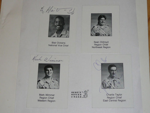 1994 National Order of the Arrow Conference Trading Card Set Signed by all but 1