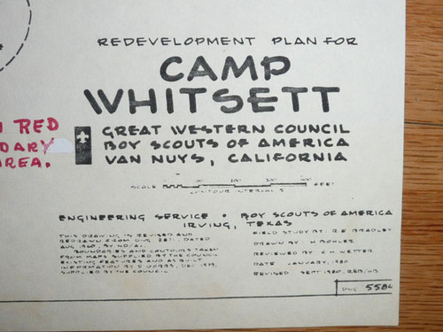 1980 Redevelopment Plan for Scout Camp Whitsett