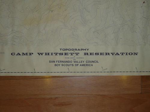 "1968 Full Sized Topo Map Labeled Camp Whitsett Reservation, San Fernando Valley, 43"" x 28"""