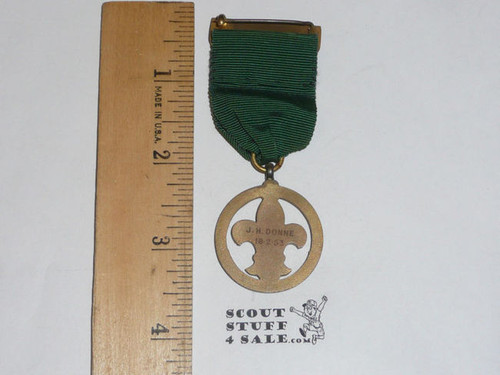 1953 Presented British Boy Scout Medal, FGPC25