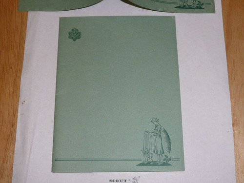 1930's Official Girl Scout Stationary - 12 pieces