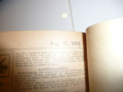"""1911-1912 Bound Volume """"The Scout"""" Magazine of the British Boy Scout Association"""