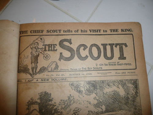 """1909-1910 Bound Volume """"The Scout"""" Magazine of the British Boy Scout Association"""