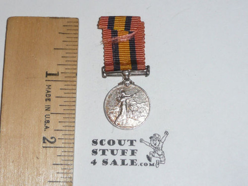 1900s Queen Victoria South Africa Campain Mini Medal, Baden Powell Scout,  May be Silver