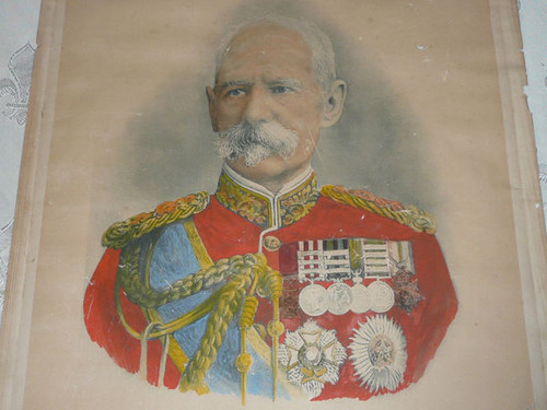 """1900 Poster of Field Marshal Lord Roberts, Boer War, 1900, Brittle paper. Some wear, see pictures. 19"""" x 23"""""""