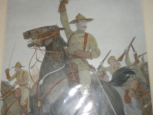 """""""The Defender of Mafeking"""" Color Print of Baden Powell by Woodville, 1899"""