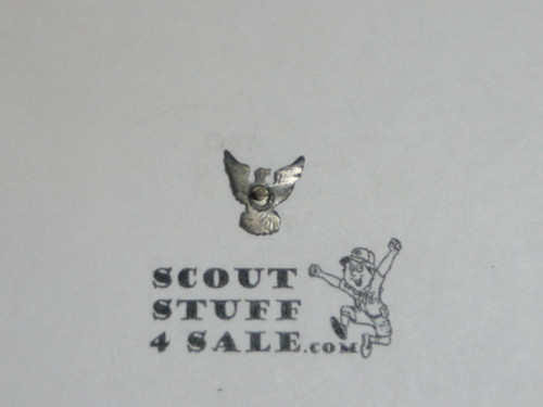 Eagle Scout Lapel Pin, 1970's STERLING Silver, small, post back