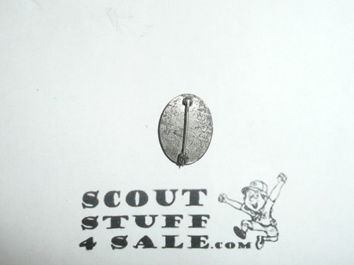 Eagle Scout Lapel Pin, 1940's STERLING Silver, Type 3, spin lock at bottom, used