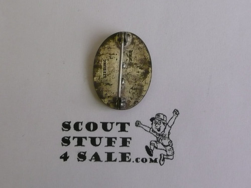 Eagle Scout Lapel Pin, 1930's STERLING Silver, Type 2 with BSA on chest, Vertical Sterling Mark