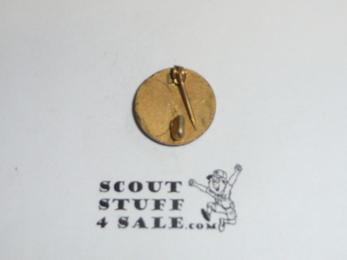 "Layman Lapel Pin, Safety Pin Clasp, 1940's, 5/8"" dia"