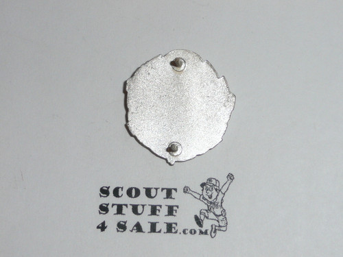Chief Scout Executive Collar Brass, Tall Crown, Two Post Back, 1940's, MINT