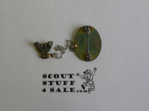Eagle Scout Lapel Pin, 1940's STERLING Silver, Type 3 , Vertical Sterling Mark, possible CALDWELL Pin, very unusual and rare