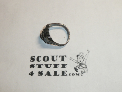 Eagle Scout Ring, 1940's STERLING Silver, Lite Wear, Size unknown, Can be sized to fit
