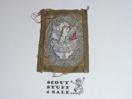 Eagle Scout Patch, Type 2, 1933-1955, Fine Twill variety, Sewn