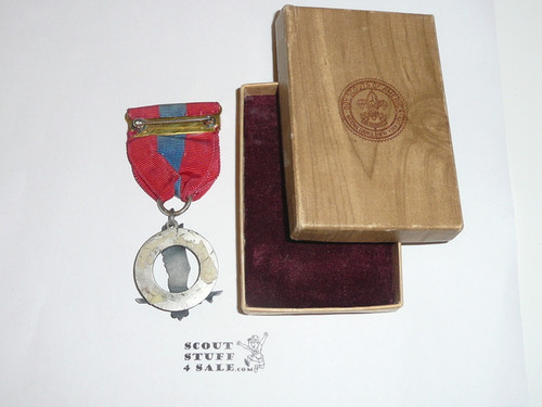 Air Scout Ace Medal, Type 2, 1940's, MINT Condition, STERLING Silver in Original Box, ULTRA RARE!
