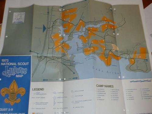 1973 National Jamboree Map