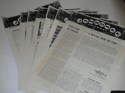 1957 National Jamboree Complete Set of Jamboree Journal Newspapers