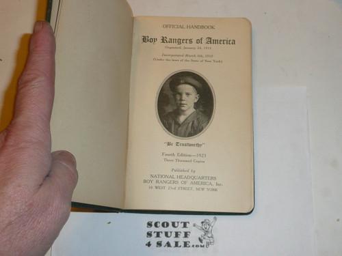 1925 Boy Rangers of America Handbook, Hardbound