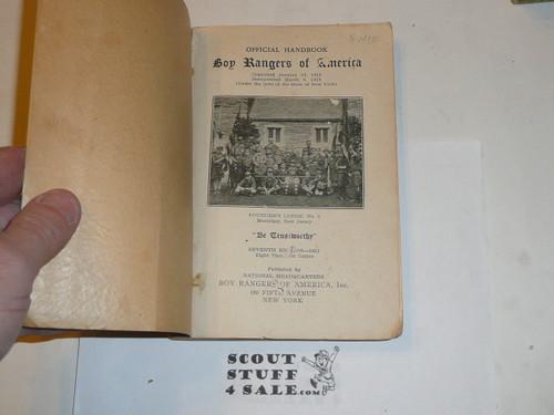 1932 Boy Rangers of America Handbook