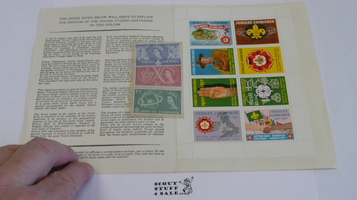 1957 World Jamboree Set of 8 Stamps plus 3 UK Special Stamps