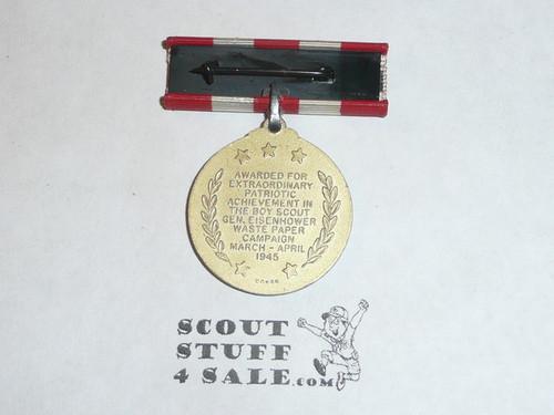 WWII 1945 War Service Medal, General Eisenhower Waste Paper Campaign Medal