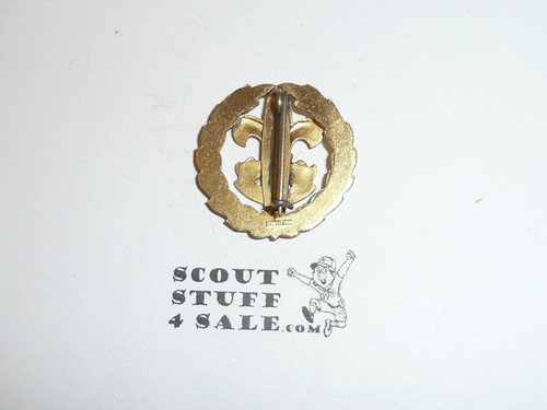 District Executive Collar Brass, Tall Crown, Vertical Bent Wire Clasp