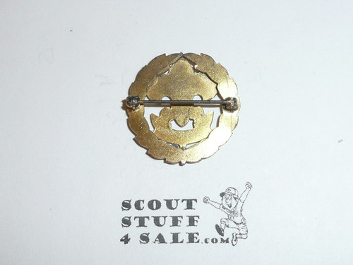 Assistant Scout Executive Collar Brass, Squatty Crown, Horizontal Spin Lock Clasp