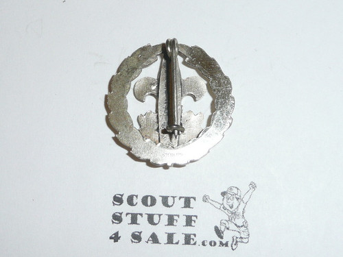 Scout Executive Collar Brass, Tall Crown, Vertical Bent Wire Clasp