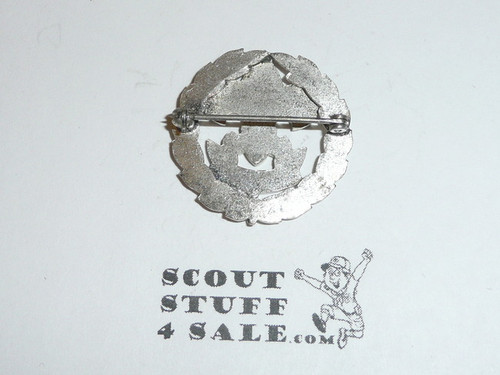 Scout Executive Collar Brass, Squatty Crown, Horizontal Spin Lock Clasp