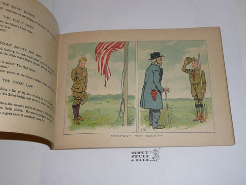 1911 Minute Tapioca Company Boy Scout Promotional Book with lots of color pictures and sketches, GREAT Book!, Guarantedd original!, not the 2000's reproduction