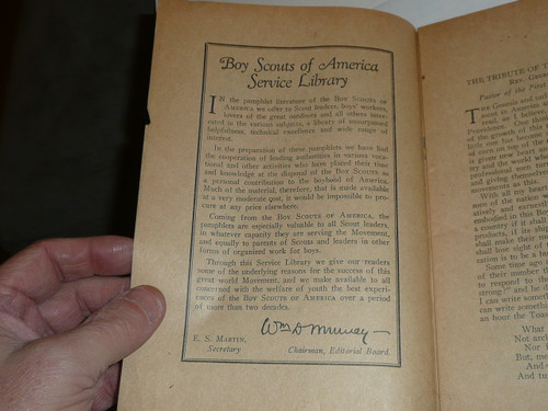 1931 Tributes to Scouting presented at 21st Annual Meeting of the National Council of the Boy Scouts of America, Rarest Boy Scout Service Library Title by far