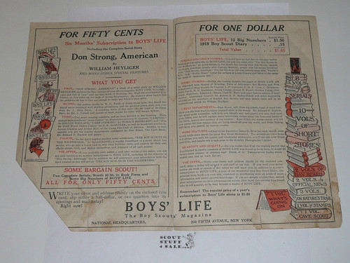 1919 Worth Looking Into, Boy Scout and Boys Life Promotional Brochure