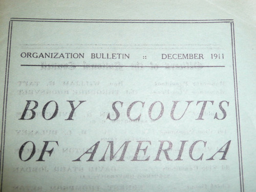 1911 Suggestions Regarding the Formation of Local Councils Patrols and Troops - Scout Officers and their Duties, Organizational Bulletin, Ultra Rare BSA Formation Booklet, 4 Bulletins in Set