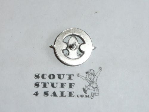 25 Year Veteran Pin, 1940's, STERLING, Post back
