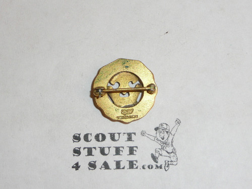 15 Year Veteran Pin, 1930's Issue, Robbins, 10K GOLD, Horizontal pin with spin clasp