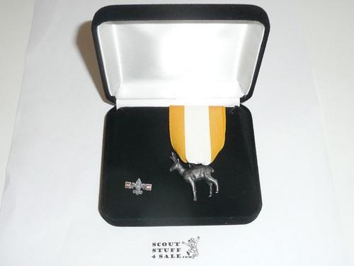 Silver Antelope Award With Lapel Pin, In Presentation Box
