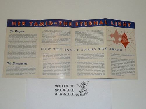 Jewish, What is the Ner Tamid Scout Award Pamphlet, 1954 printing