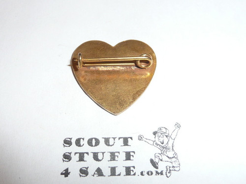 Life Scout Rank Pin, bent wire Clasp, 24mm Tall