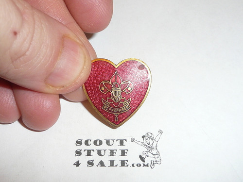 Life Scout Rank Pin, small Spin lock Clasp, 23mm Tall