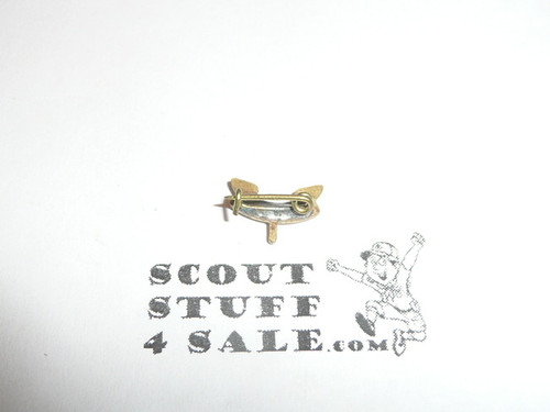 2nd Class Scout Rank Mother's or Lapel Pin, crude wire clasp, 10mm Wide