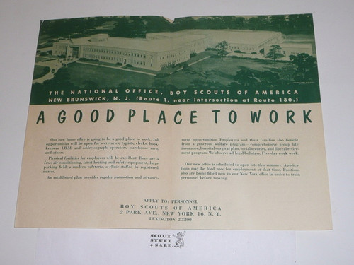 """1970's """"A Good Place to Work"""" National Office Recruiting Brochure"""