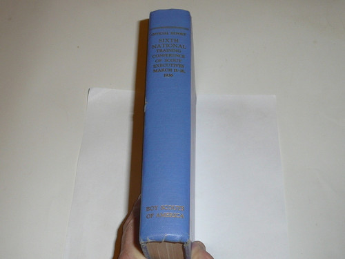 1936 Sixth National Training Conference of Scout Executives Hardbound Book