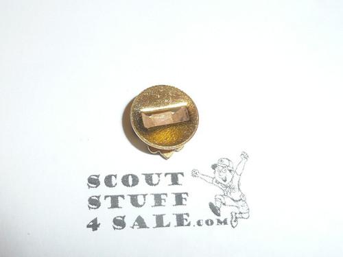 Boy Scout Lapel Pin, Gold Emblem, button insert