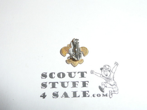 Boy Scout Lapel Pin, Gold Emblem, spin lock clasp