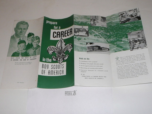 """1963 """"Prepare for a Career in the Boy Scouts of America"""" Recruiting Brochure"""