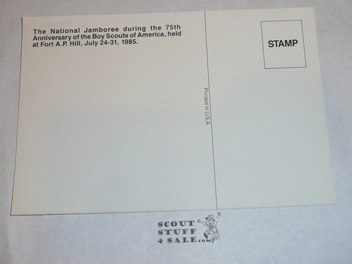 1985 National Jamboree Post Card, Cartoon Map of the USA
